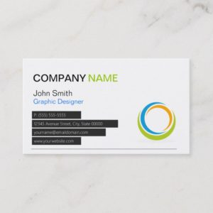 Abstract Circular Logo Modern Stylish Customizable Business Card