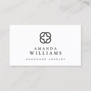 Abstract Clover Logo Jewelry Design Business Card