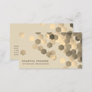 Abstract elegance geometric pattern stylish cover business card