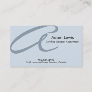 Accounting Business Card - Monogram
