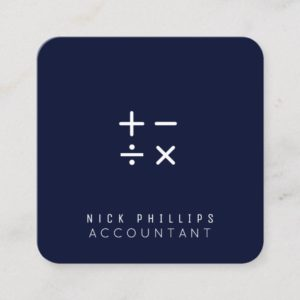 App icon shape look calculation logo square business card