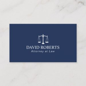 Attorney at Law Elegant Navy Blue Lawyer Business Card