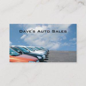 Auto dealer lot business card