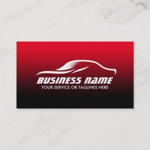 Auto Detailing Professional Black & Red Automotive Business Card