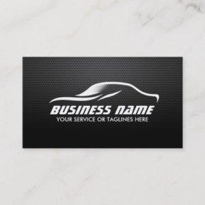 Auto Repair Dark Metal Automotive Business Card