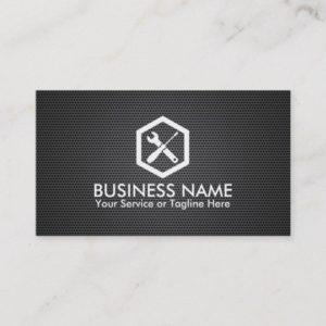 Auto Repair Professional Black Metal Automotive Business Card