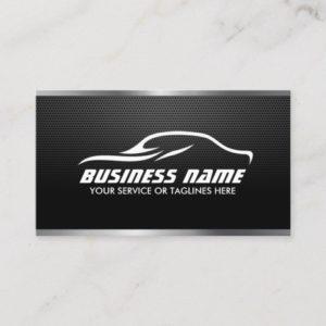 Automotive Auto Repair Professional Metal Steel Business Card
