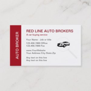 Automotive Dealer Business Cards