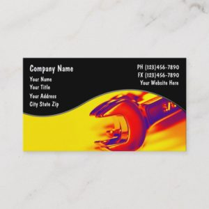 Automotive Mechanic Wrenches Theme Business Card