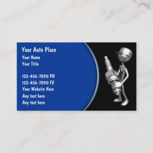Automotive Retro Sparkplug Design Business Card