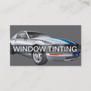 Automotive Window Tinting Business Cards
