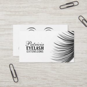 Beautiful Eyelash Extensions Business Cards