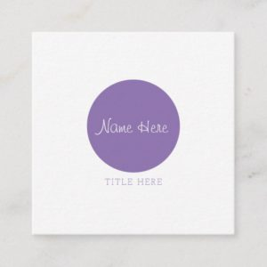 Beautiful Minimalist Circle Square Business Cards