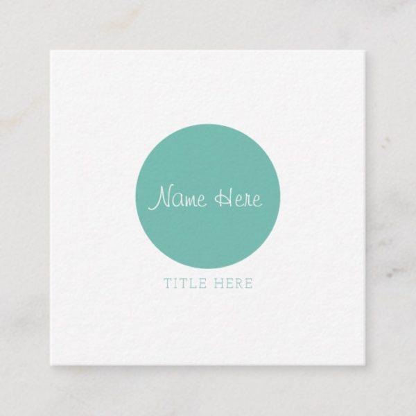 Beautiful Minimalist Circle Square Business Cards