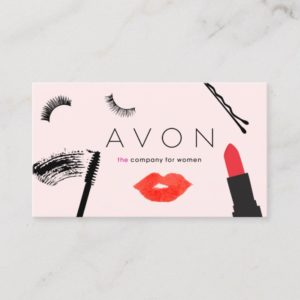 Beauty Biz Avon Representative Pink Business Card