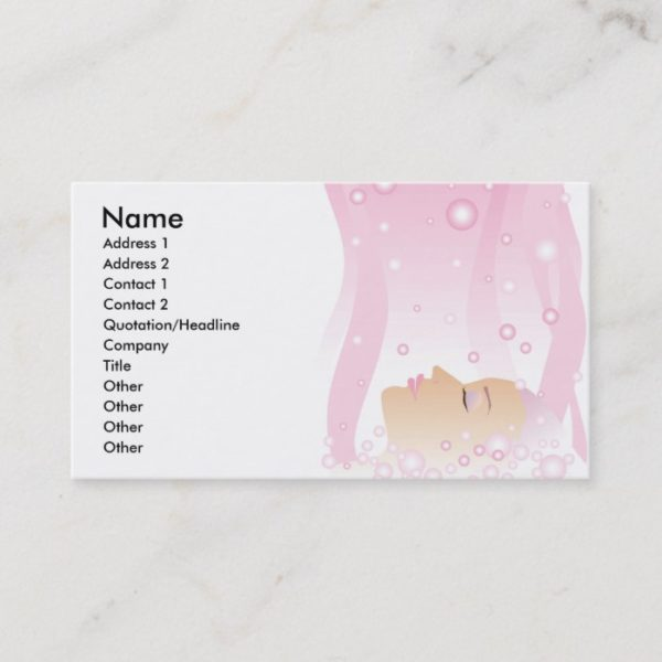 Beauty Pink Bubbles Business Card