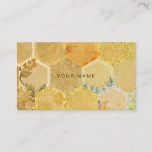 Bee Gold Honeycomb Beehive Vip Business Card
