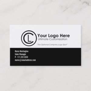 Black and White Simple Business Cards