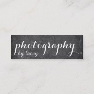 Black Chalkboard Style Mini Business Card