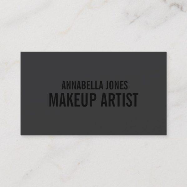 Black Out Makeup Artist | Business Cards