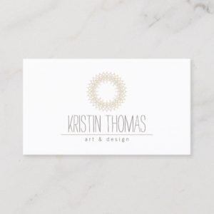 Bohemian Gold Sun Mandala Designer Business Card