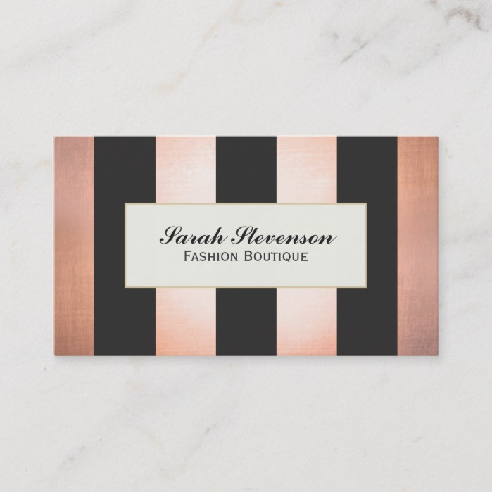 Bold And Glamorous Fashion Boutique Designer Business Card Business Card Branding