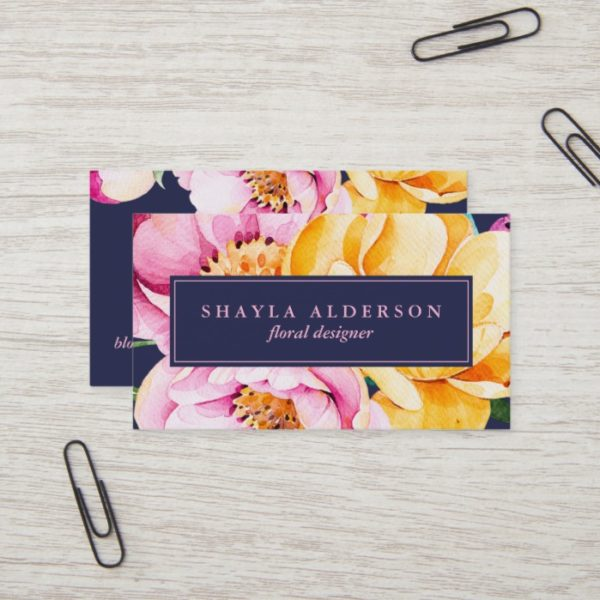 Bold Floral | The Spotted Olive | Business Card