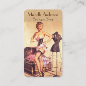 Boutique salon Fashion stylist Business Card