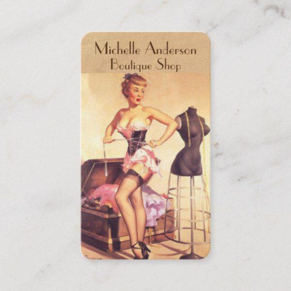 Boutique salon Fashion stylist Business Card