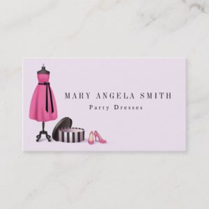 Boutique Seamstress Shop Fashion Business Card