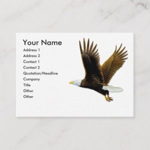 Business Cards, American Bald Eagle Business Card