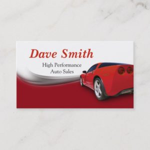 Car Detailer and Service Business Card