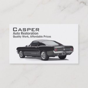 Car Restoration Business Card