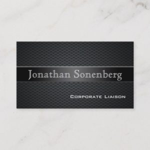 Carbon Fiber Professional Business Cards