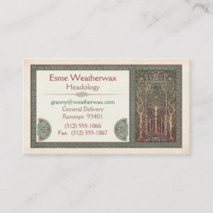 Celtic Trees Design Business Cards