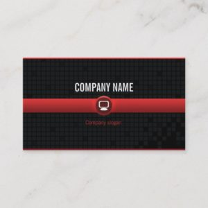 Chart visits - Professional red data processing v2 Business Card