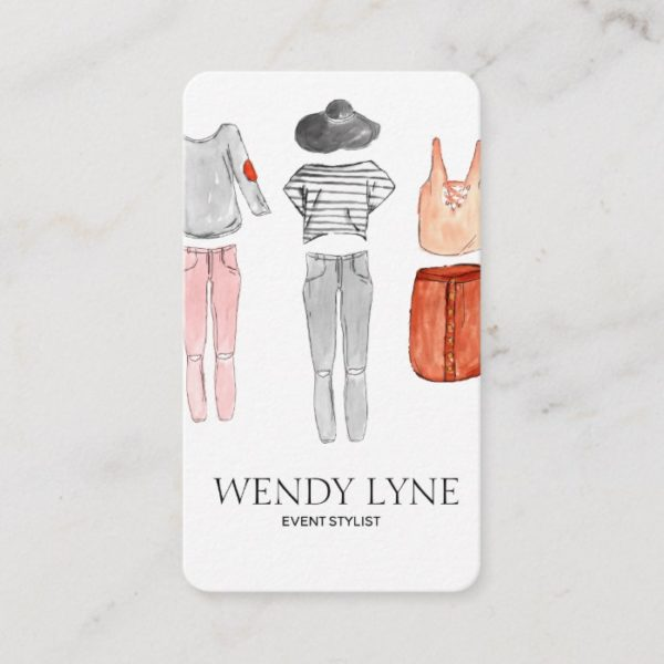 Chic modern fashion clothing business card