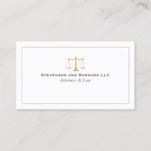 Classic Attorney Justice Scale  Business Card