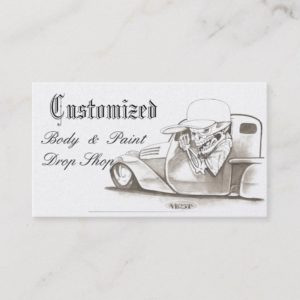 Classic Platinum Automotive Business Cards