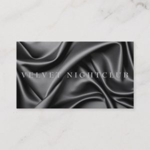 Classy, black, sleek, silk design business card