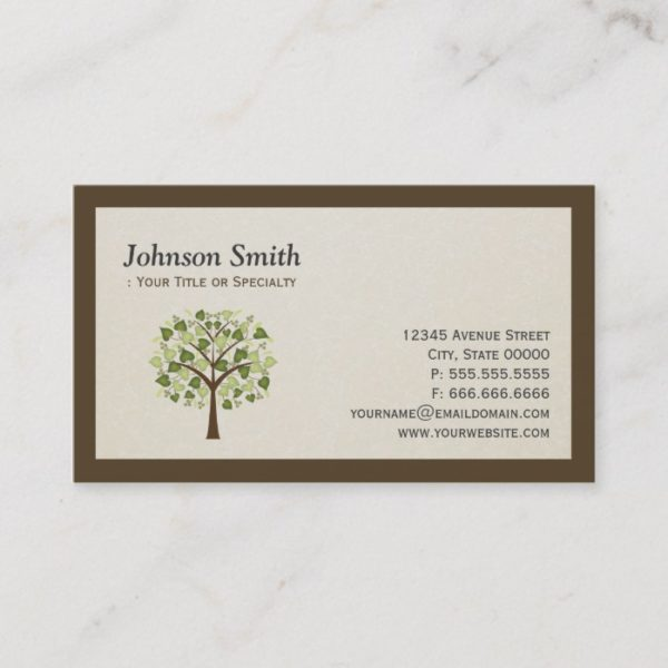Classy Tree of Hearts - Simple Clean Stylish Business Card