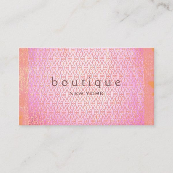 Colorful Exotic Fashion Boutique Pink Elegant Chic Business Card