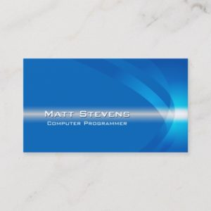 Computer Programmer InternetTechnical Light Stream Business Card