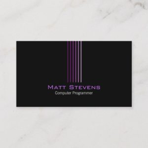 Computer Programmer Simple Business Card