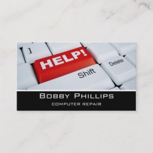 computer repair business card