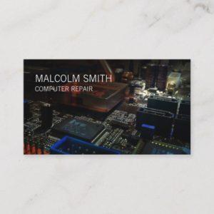 Computer Repair PC Motherboard Circuits Business Card