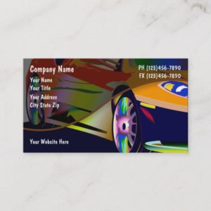 Cool Automotive Theme Design Business Card