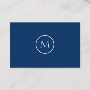 Cool Black Minimalist Monogrammed Elegant Business Card