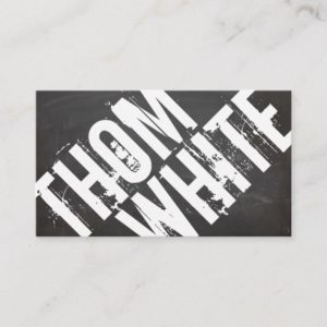 Cool BOLD Black and White Grunge Typography Urban Business Card