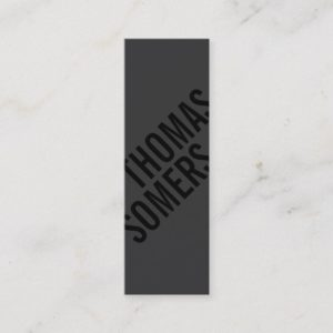 Cool BOLD Black Unique Modern Designer Mini Business Card
